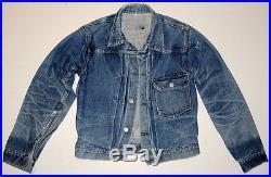 Vintage 1930s-40s Levi's Number One Jacket 36 Hige First Model Buckle Back