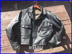 Vintage 1940s Horsehide Leather Harley Davidson Motorcycle Jacket