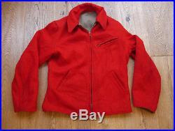 Vintage 1940s Reversable Gab and Melton Wool Half Belt Jacket with Talon Zip