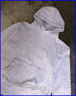 Vintage 1950s/1960s Pilgrim Sportwear Grey Blank Hoodie Sweatshirt
