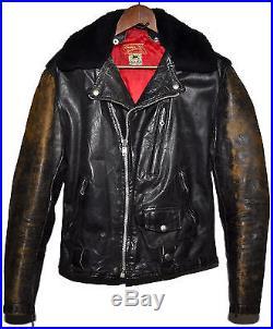 Vintage 1950s 50s INDIAN MOTORCYCLES Sportswear Leather Ranger Jacket Biker RARE