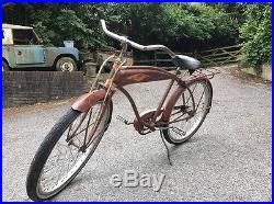 Vintage 1950s American Beach Cruiser Belknap Bluegrass Adult 26 Patina