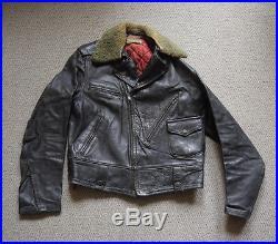 Vintage 1950s Californian Sportswear Co Highway Patrol Leather Motorcycle Jacket