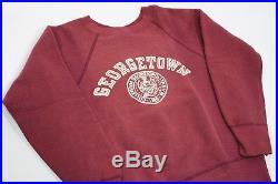 Vintage 1950s GEORGETOWN UNIVERSITY College Crewneck Sweatshirt Champion Large