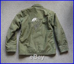 Vintage 1960s First Pattern A-2 USN Vietnam Parachutists Deck Jacket Stencil