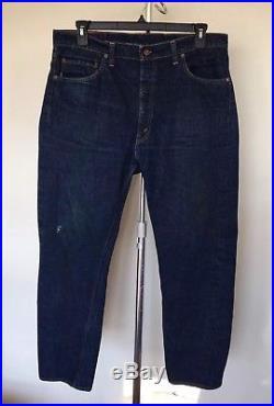 Vintage 1960s Levi's 505-0217 Denim Jeans Big E 38/30 37/30 505 #5 Talon 42