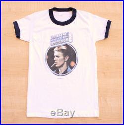 Vintage 1976 David Bowie On Stage Concert Tour T-shirt Sz. S M Rare, Rock, Original