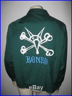 Vintage 1980s BONES Powell Peralta Green Jacket MINT New Old Stock Size XL