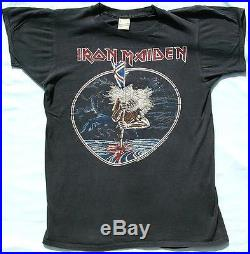 Vintage 1982 IRON MAIDEN The Beast On The Road Concert Tour T-SHIRT