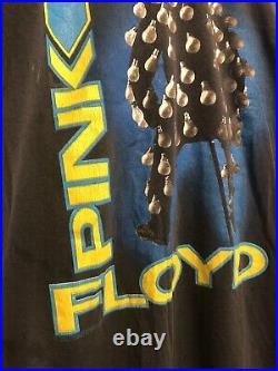 Vintage 1989 Pink Floyd Concert Tour T-Shirt Brockum S/M Rare! Faded Perfect