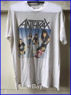 Vintage 1990 Anthrax T Shirt 90's Tour Persistence of Time Brockum metal rock XL