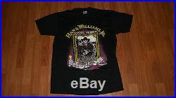 Vintage 1990 HANK WILLIAMS JR Concert LONE WOLF T-Shirt mens womens BOCEPHUS