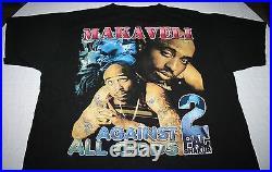 Vintage 1990s Tupac Against All Odds T-Shirt Sz XL 90s Hip Hop Rap Tee 2PAC RARE