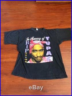 Vintage 1990s Tupac Shakur RIP Shirt Large XL 90's Hip Hop Rap Tee 2PAC YEEZY