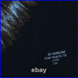 Vintage 1991 3D Emblem Men's Medium Harley Davidson Wolf Double-Sided T-Shirt