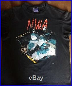 Vintage 1991 N. W. A Tee Shirt Eazy E Dr. Dre Ice Cube Snoop Dogg 80s 90s Rap SOFT