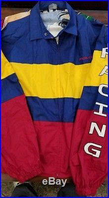 085822f5ad7d3 Vintage 1992 polo ralph lauren xxl cycle jacket hitech polo sport rare