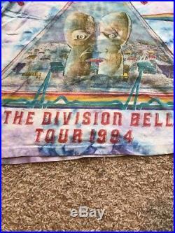 Vintage 1994 Pink Floyd Division Bell Tour Shirt Size XL Tie Dye 90s T
