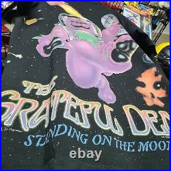 Vintage 1995 Grateful Dead Tshirt Standing On The Moon All Over Print Band