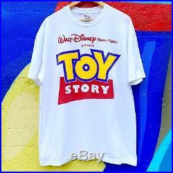 Vintage 1995 Toy Story Movie Promo T Shirt 90s Single Stitch Size XL Disney Rare