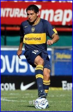 Vintage 2001 Boca Juniors Jersey Roman Riquelme Argentina España Brasil Mexico