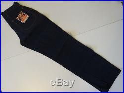 Vintage 30s 40s WW2 POWELL BRAND Denim Work Pant Jean 28×32 SANFORIZED Deadstock