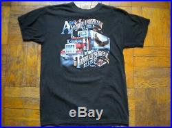 Vintage 3D Emblem trucker Americana t-shirt, tee, 1980s, Large, very good