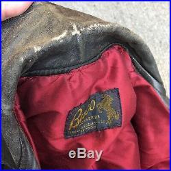 Vintage 50s BUCO Horsehide Leather Motorcycle Jacket