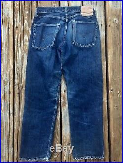Vintage 60's LEVI'S Big E Redline 501 Denim JEANS 30 waist
