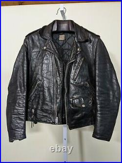 Vintage 60s Beck Motorcycle Leather Jacket Schott Perfecto NYC USA 38
