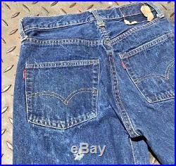 Vintage 60s Big E Levis 501 Jeans 2 Tabs Selvage Single Stitch W 27 L 26