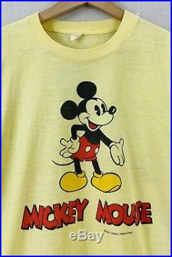 Vintage 70's Mickey Mouse Disney Double Sided 50/50 Tropix Togs T-Shirt Sz M