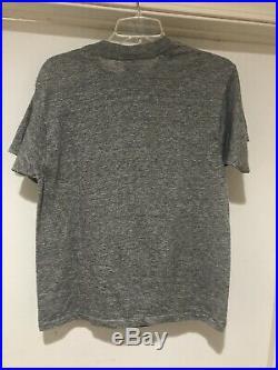 Vintage 80s Camel Cigarettes Heather Gray Rayon Tri Blend Paper Thin T Shirt L