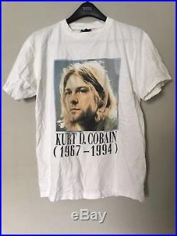 Vintage 90s 1994 Kurt Cobain Nirvana R. I. P. T-shirt Original