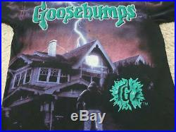 Vintage 90s GOOSEBUMPS Come Out And Plays t shirt movies single stitching