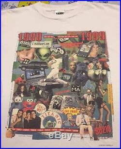 Vintage 90s History 1990-1999 Shirt Tultex Rap Tee Tupac Pokemon Jordan Bootleg