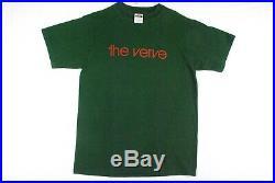 Vintage 90s THE VERVE Concert Tour T Shirt Shoegaze Oasis Green Mens Large