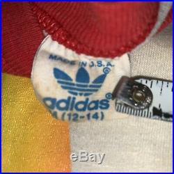 Vintage Adidas Shirt Rainbow Trefoil 5050 Super Rare Jersey Raglan Youth