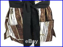 Vintage Alfred Shaheen Beach Coat Swimsuit Jacket Tie Waist Made In Hawaii Men