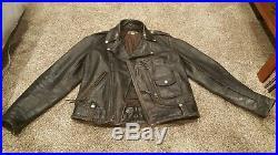 Vintage BUCO J-24 HorseHide Leather Jacket 40 Motorcycle D-Pocket 1950's