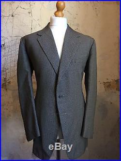 Vintage Bespoke 3 Three Piece Savile Row Brown Tweed Suit Size 44