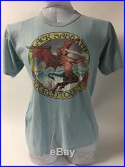 Vintage Black Sabbath World Tour 1978 T-Shirt Rock and Roll Concert Ozzy Metal