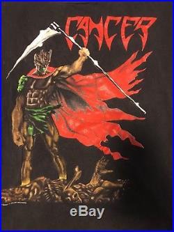 Vintage CANCER Tour Shirt Death Metal Death Shall Rise OG Carcass Obituary