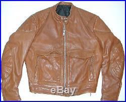 Vintage Cafe Racer by Apparel Annex Brown Leather Men's Motorcycle Biker Jacket