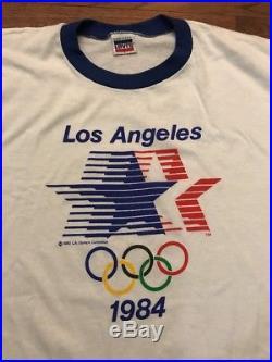 Vintage DS Levi's 1984 Los Angeles USA Olympics Ringer T-shirt Large