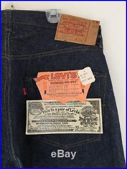 Vintage Deadstock Redline Levis 501 Button 36/36 No Big E Pair # 1
