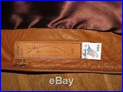 Vintage East West Musical Instruments Leather Jacket Ex Cond Sz 44 San Francisco