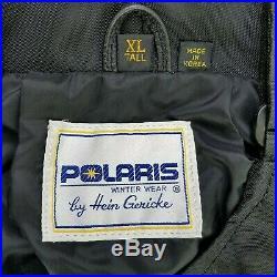Vintage Hein Gericke Men's Leather Polaris Snowmobile Bibs Size XL Tall Extra L