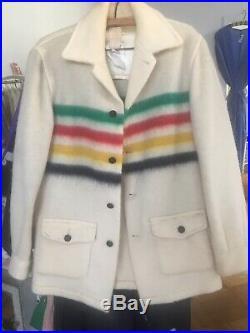 Vintage Hudson Bay Wool Jacket Coat 1960s Small Mens Womens Unisex