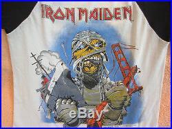 Vintage IRON MAIDEN 1985 California Concert Shirt Jersey True Vintage Original